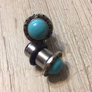 Jewelry - Tourquise and steel plugs body jewelry